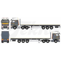 Friderici Hotels Renault T with Flat Trailer