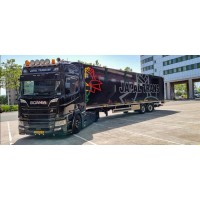 Japal Scania Next Gen R520-V8 with Steered Refrigerated Trailer