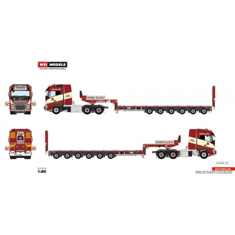Colonia - 6-Axle Mco-Px Semi Lowloader With Ramps + Volvo Fh4 6X4