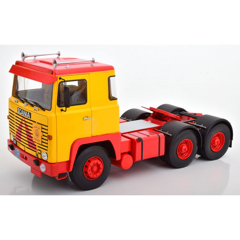 Scania LBT 141 1976 Yellow/Red 1:18 Scale