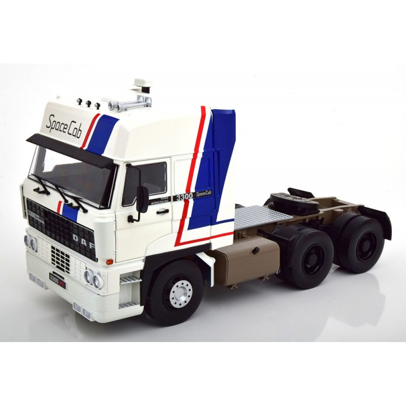 DAF 3300 Space Cab 1982 White Blue Red 1:18 Scale