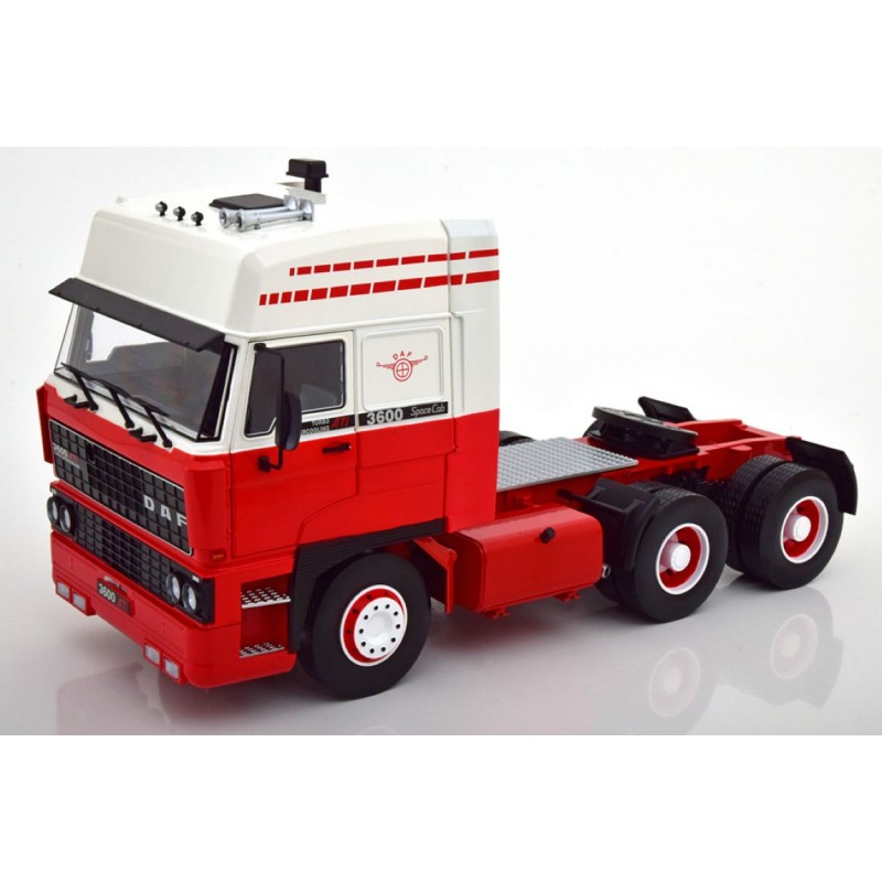 DAF 3600 Space Cab 1986 Red & White 1:18 Scale