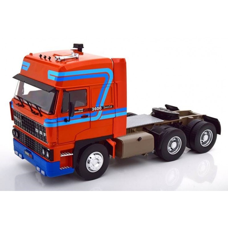 DAF 3600 Space Cab 1982 Orange & Blue 1:18 Scale