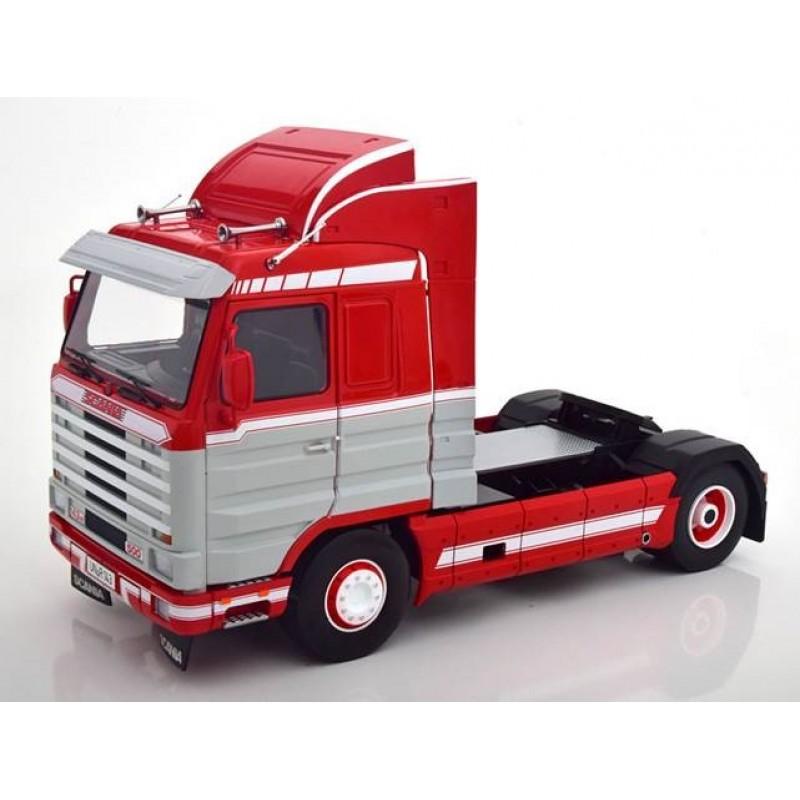 Scania 143 Streamline 1995 Red - Light Grey & White 1:18 Scale