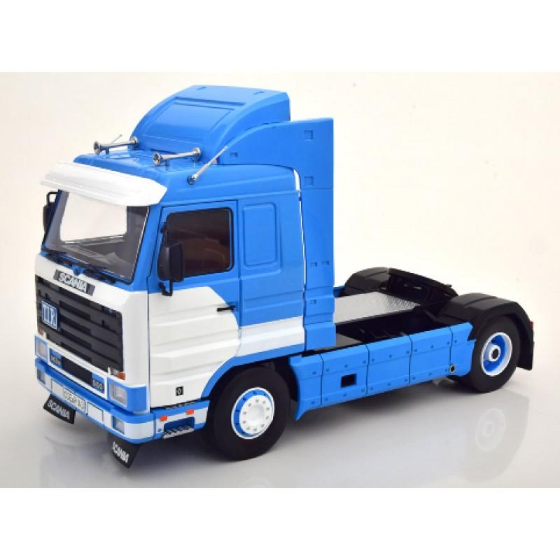 Scania 143 Streamline 1995 Blue & White 1:18 Scale