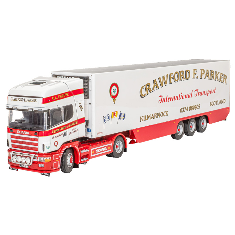 Crawford F Parker Scania 4-Series Topline 4 x 2 with 3-axle Fridge Trailer