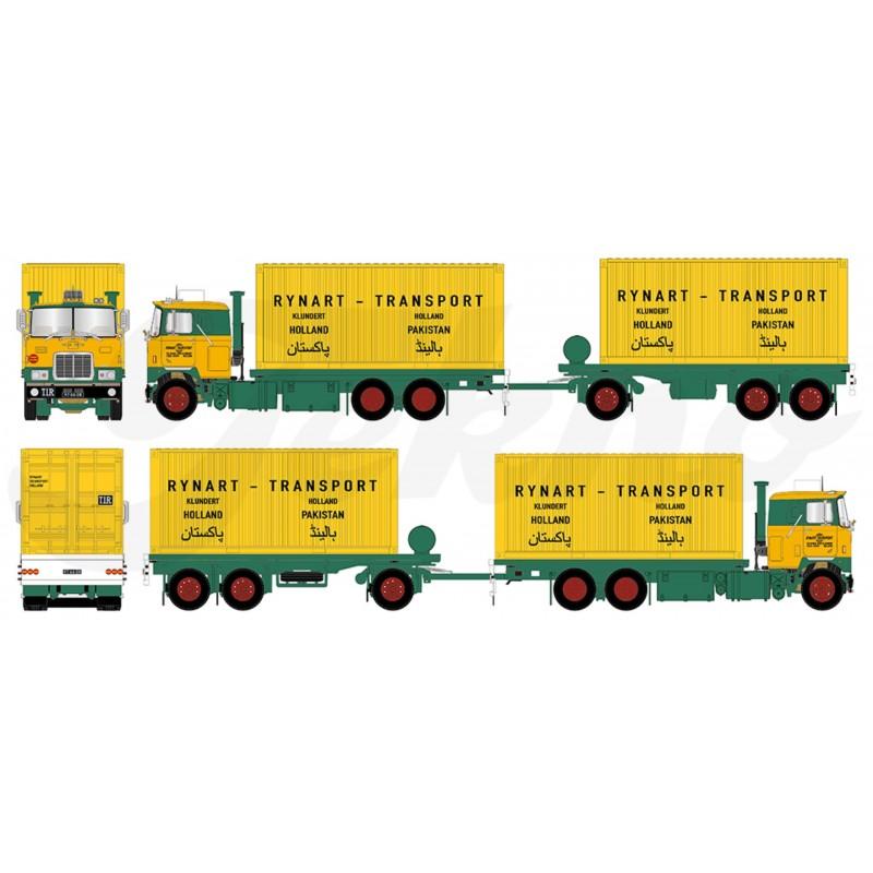 Rynart Transport Mack F700 Drawbar Trailer & 2 20Ft Containers