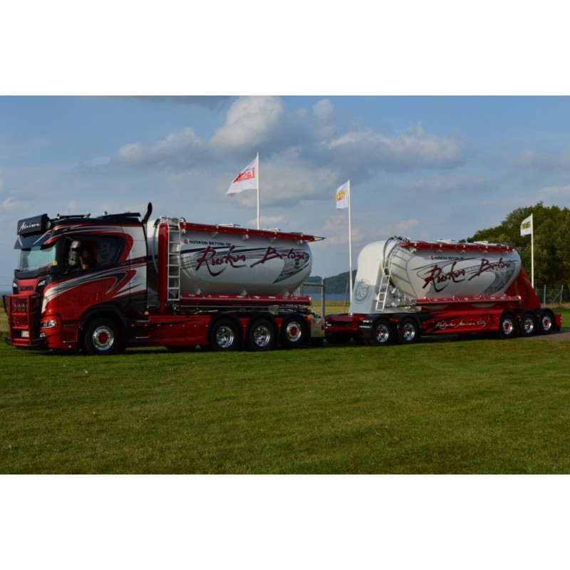 Auvinen Scania Next Gen Silo Combination Drawbar Trailer