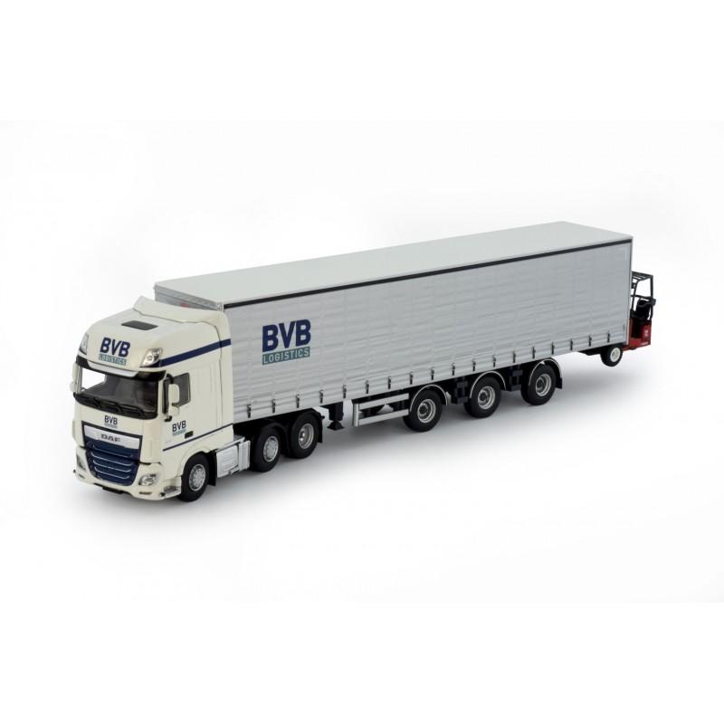 BVB Logistics DAD SSC Curtainside Trailer With Forklift