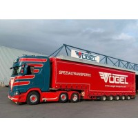 Vogel Scania Next Gen S-Serie Highline With 4 Axle Curtainside Trailer