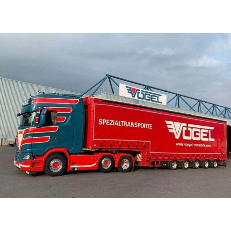 Vogel Scania Next Gen S-Serie Highline With 4 Axle Curtainside Trailer