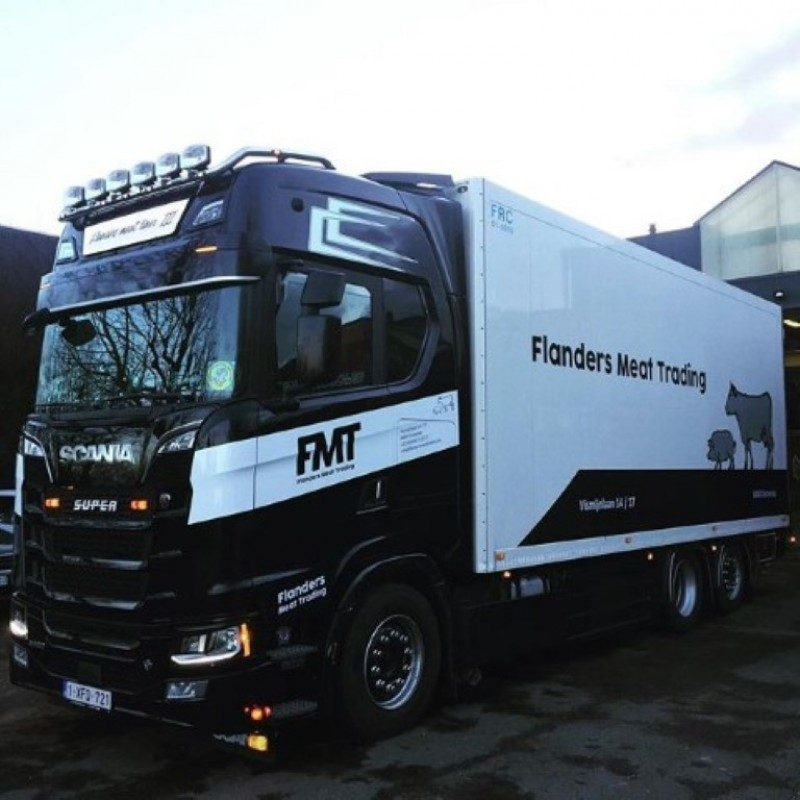 Flanders Meat Trading Scania Next Gen S650 Highline With 3 Axle Reefer Trailer