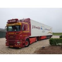 Vrolijk Scania R-Series R500 With 3 Axle Reefer Trailer