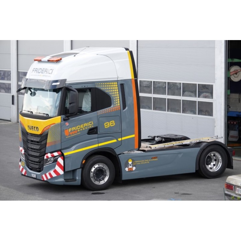 Friderici Iveco S-Way With 3 Axle Curtainside Trailer