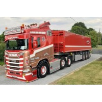 Ronny Ceusters Scania Next Gen R-Series With 3 Axle Tipping Bulk Trailer
