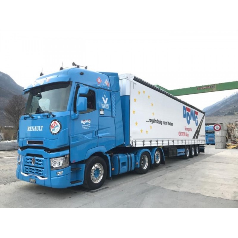 Domig Renault T 6X2 With 3 Axle Curtainside Trailer