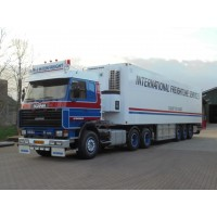 Mj Interfreight Scania 143-450 6X2 With Reefer Trailer