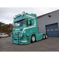 Verbist Scania Next Gen R650 6X2 Sleeper With Curtainside Trailer