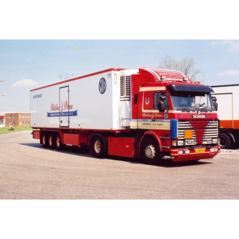J. Bram Matthias Scania 143-450 With 12.5M Reefer Trailer