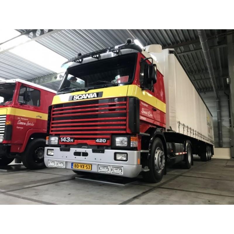 Simon Loos Scania 3-Series 143-420 With 3 Axle Curtainside Trailer