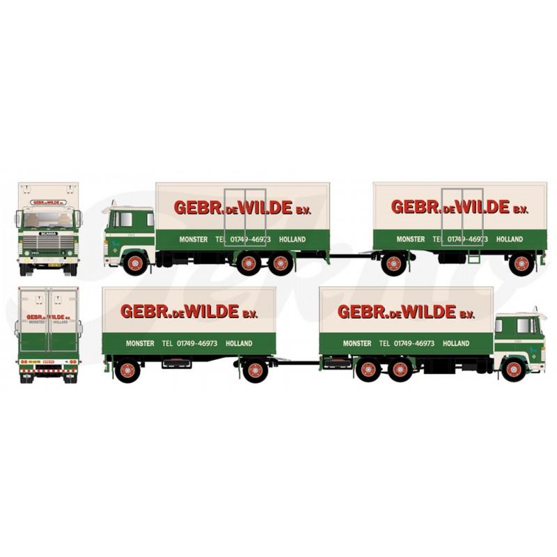 De Wilde Scania 140 Drawbar Trailer