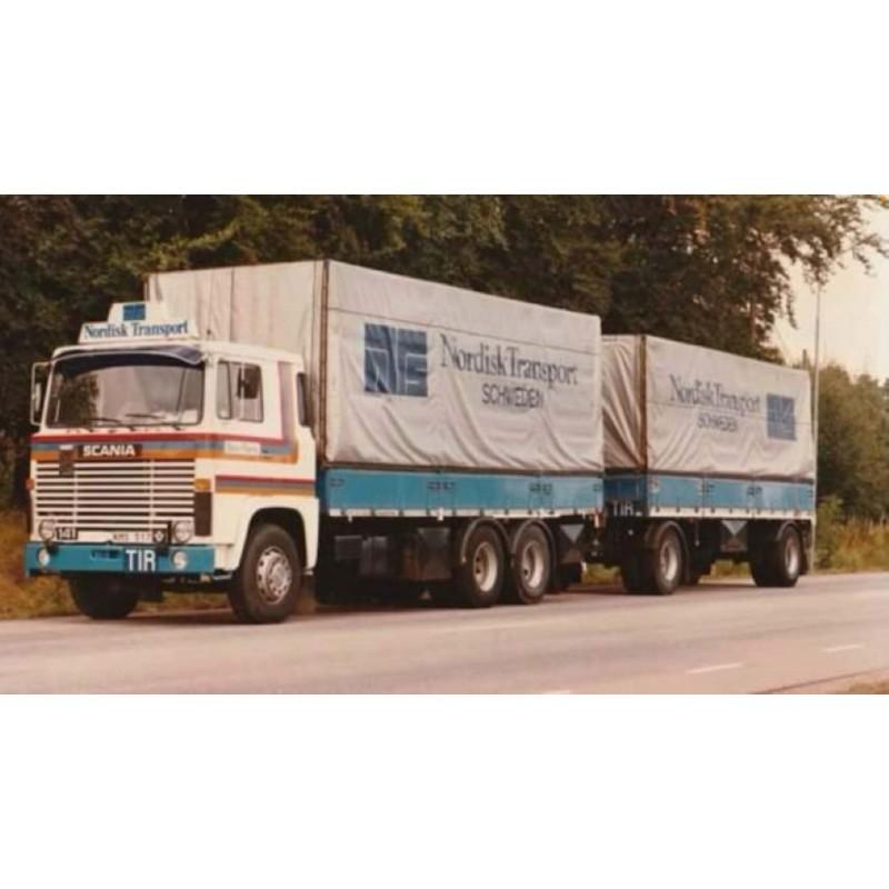 Bjuv Trans - Nordisk Scania 1-Series With Drawbar Trailer