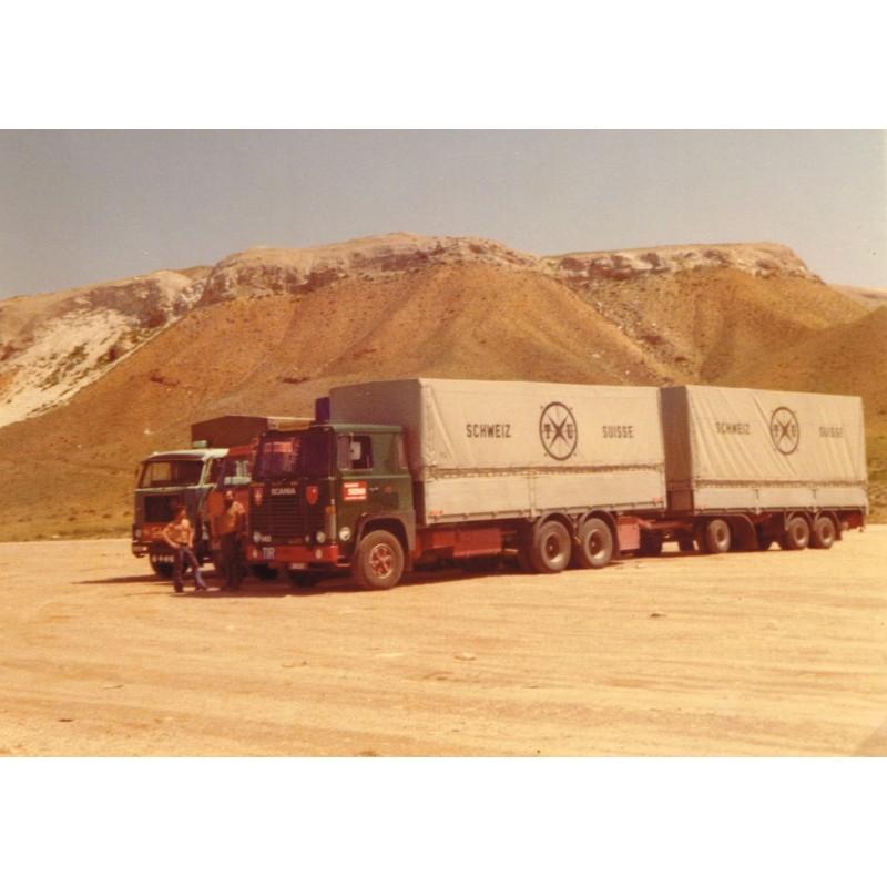 Scania 141 Rigid With 2 Axle Curtainsider Trailer