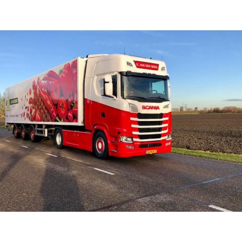 E. Van Den Berg Scania Nex Gen S450 Highline With Widespread Reefer Trailer