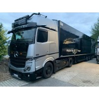 RS Logistiek Mercedes-Benz Actros Mirrorcam With 3 Axle Curtainside Trailer