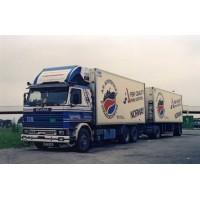 Langtransport Scania 142 Motorwagen With 2 Axle Trailer