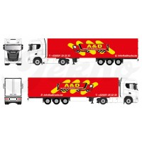 A&D Truck & Trailers Scania Next Gen S-Series Highline With Reefer Trailer 1:87 Scale
