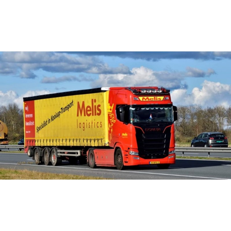 Melis Scania Next Gen S-Series Highline With Curtainside Trailer & Moffet Forklift