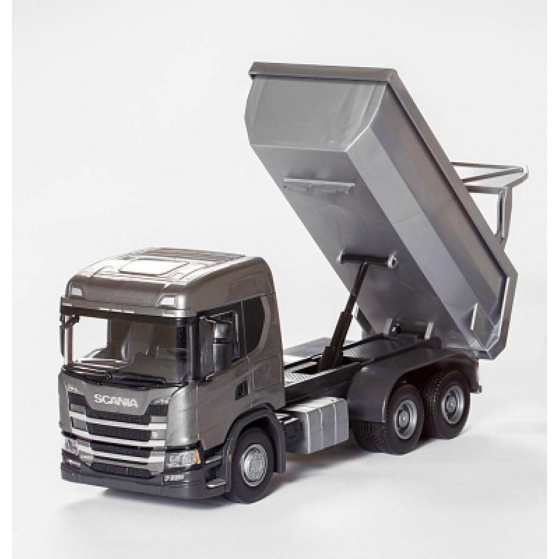 Scania G 500 6X4 Dump Truck - Gray 1:25 Scale