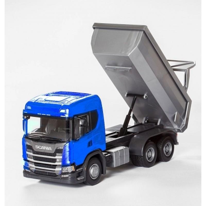 Scania G 500 6X4 Dump Truck - Blue 1:25 Scale
