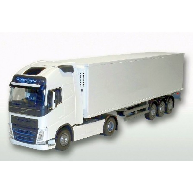 Volvo Fh04 4X2 With Reefer Trailer - White 1:25 Scale