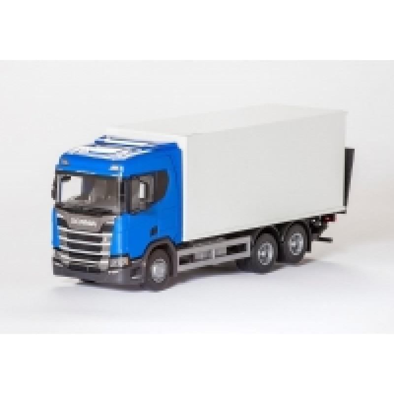 Scania Cs20H 6X4 Rigid Box - Blue 1:25 Scale