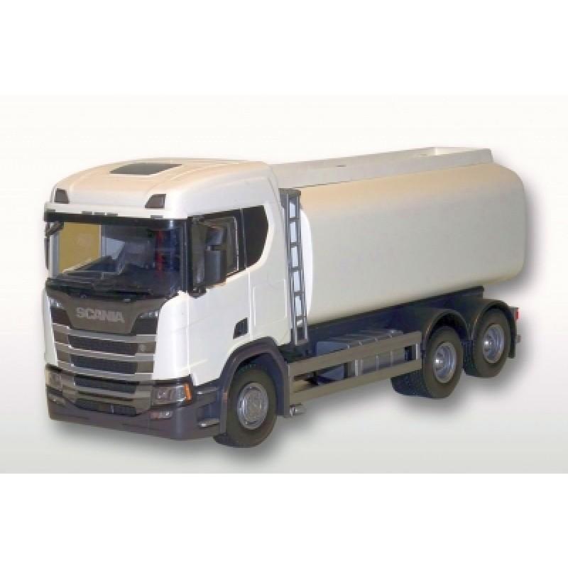 Scania Cs20H 6X2 Citytrailer - White 1:25 Scale