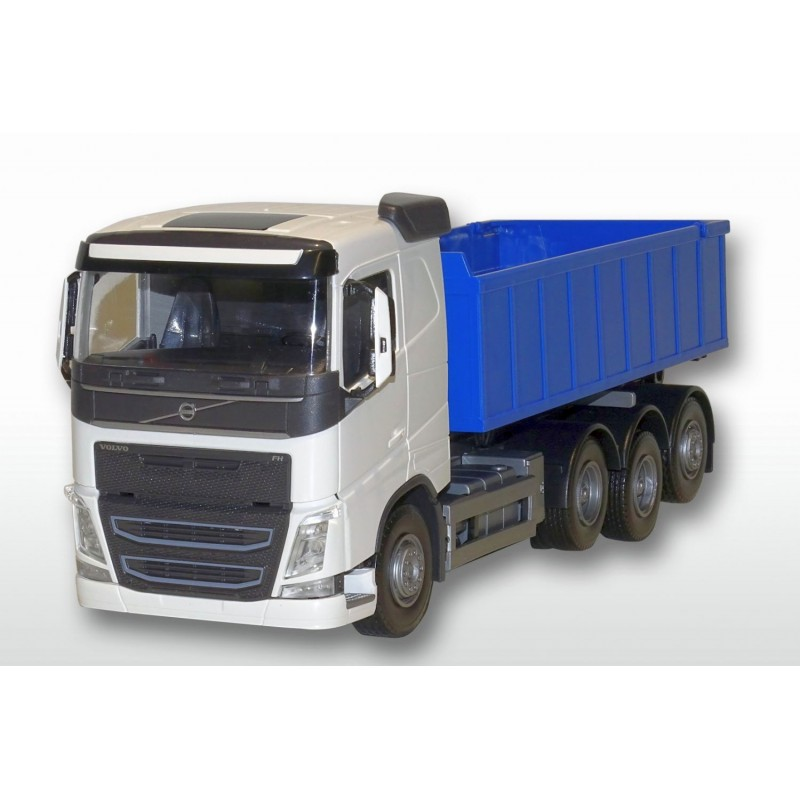 Volvo FH04 8x4 White Cab Blue Roll Off Container