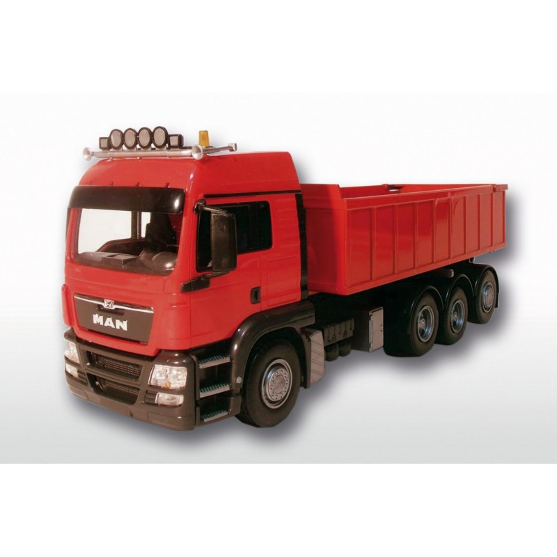 MAN TGS 8x4 Red Cab Red Roll Off Container