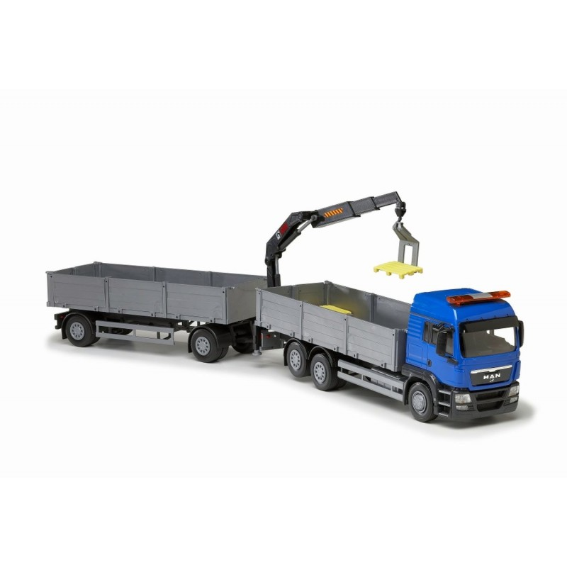 MAN TGS LX 6x2 Blue Cab Open Platform HIIAB With Trailer