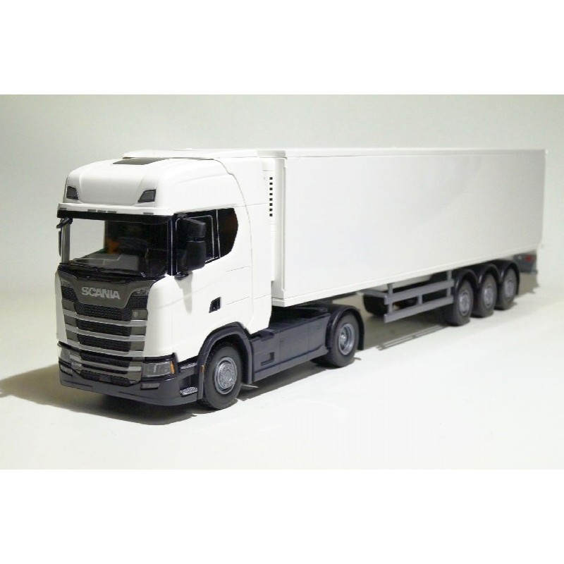 Scania CS410 4x2 White Cab With Reefer Trailer