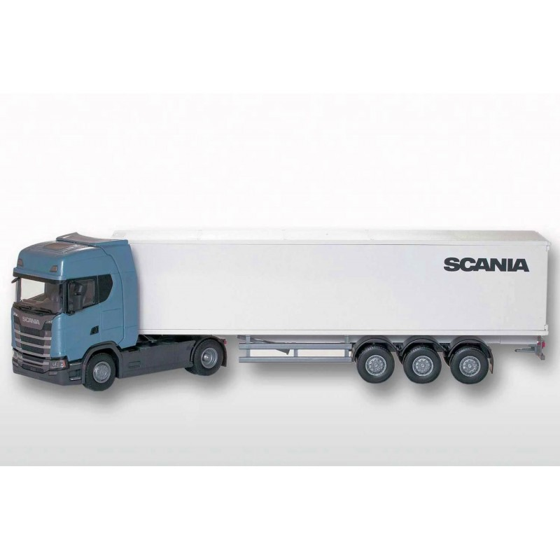 Scania CS410 4x2 Blue Cab With Box Trailer