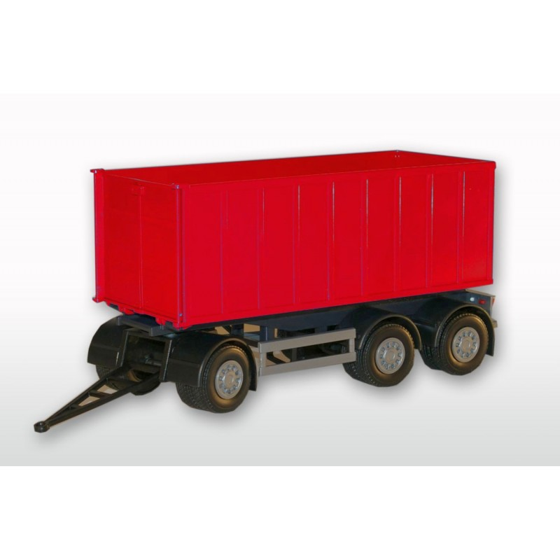 3 Axle Red Roll Off Container