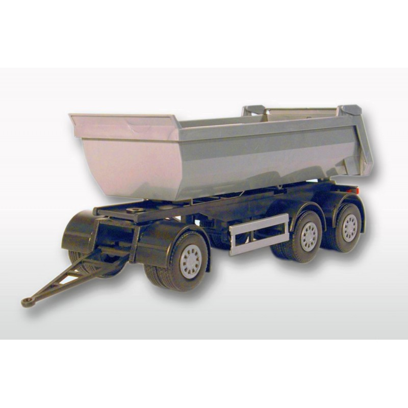 3 Axle Silver Tipper Trailer