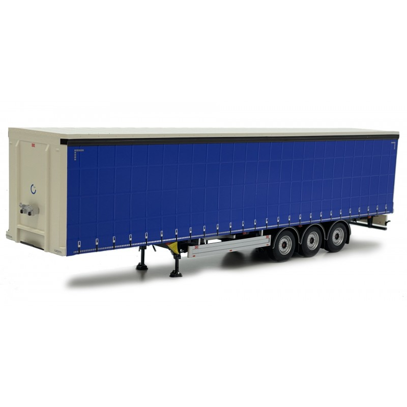Pacton Curtainsider Trailer Plain Blue 1:32 Scale