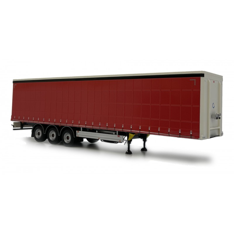 Pacton Curtainsider Trailer Plain Red 1:32 Scale