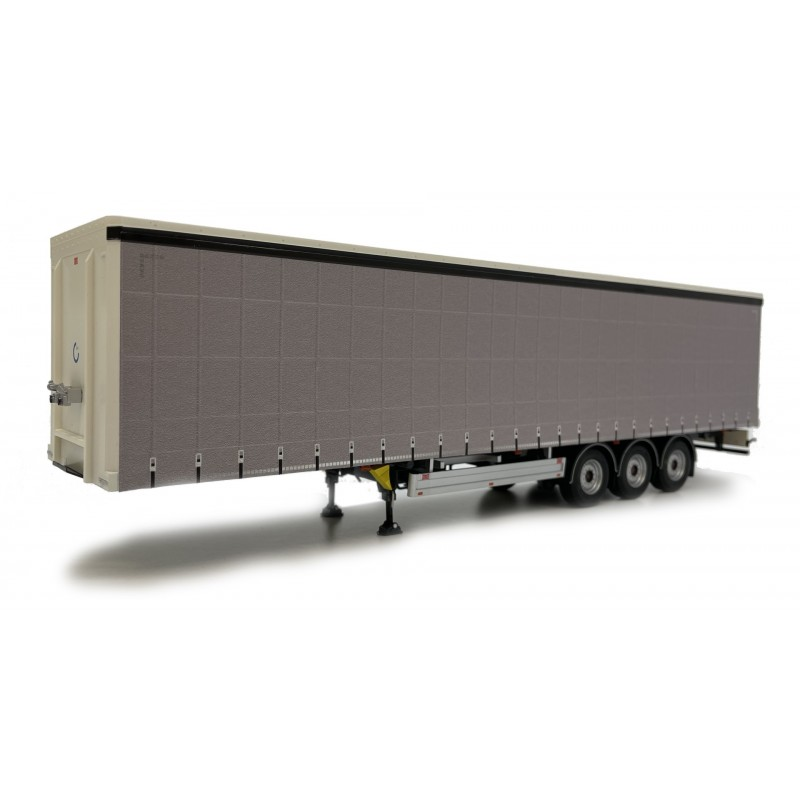 Pacton Curtainsider Trailer Plain Gray 1:32 Scale