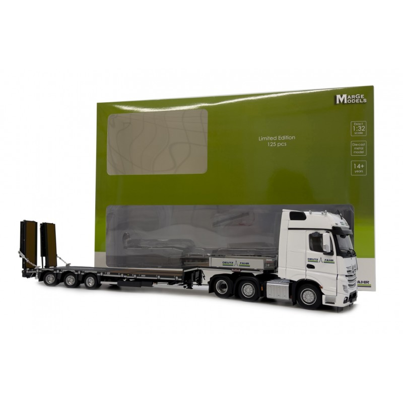 Deutz Mercedes Actros Gigaspace And Nooteboom Semi Lowloader Black With Wooden Panels