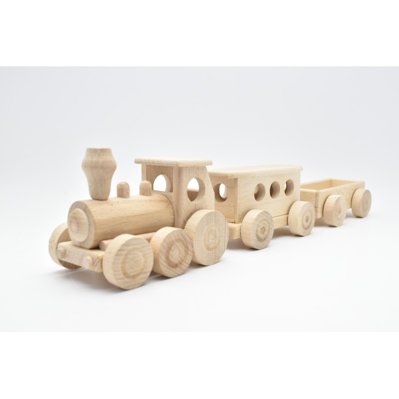 Passenger Train Wood Model
