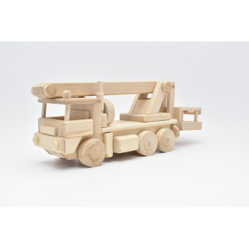 Truck With Aerial Platform Wood Model